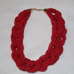 Red beaded necklace 💋